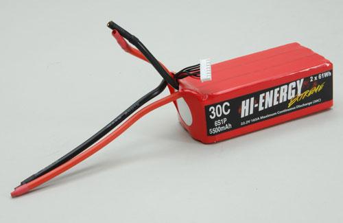 Hi-Energy Extreme 6S 5500Mah 30C Li-Po