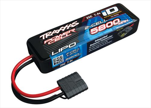 5800mAh 7.4V 2S 25C LiPo ID Battery