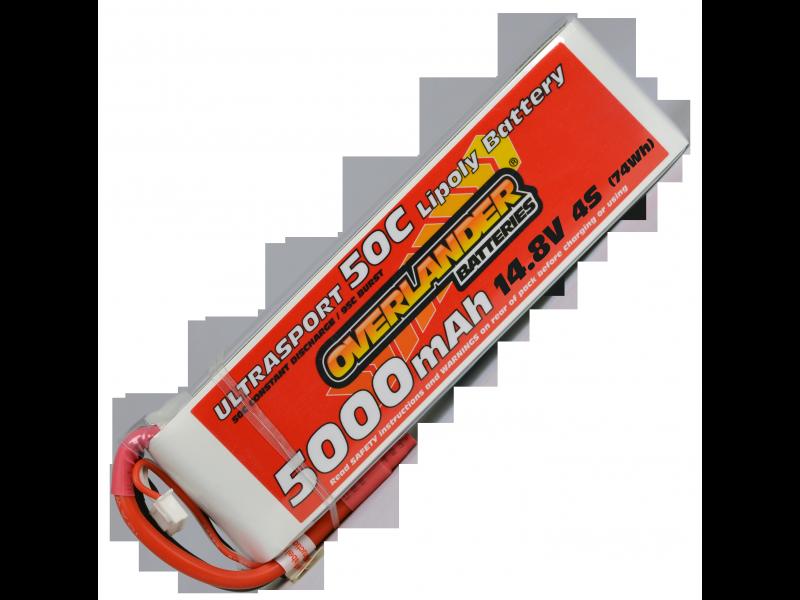 5000mAh 4S 14.8v 50C LiPo Battery - Overlander Ultrasport