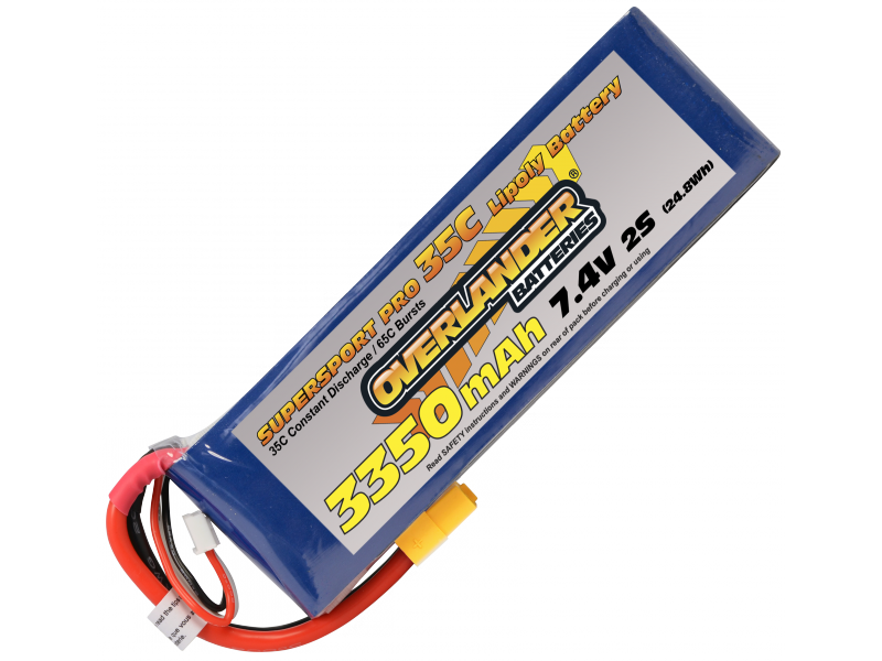 3350mAh 2S 7.4V 35C Supersport Pro (XT60)