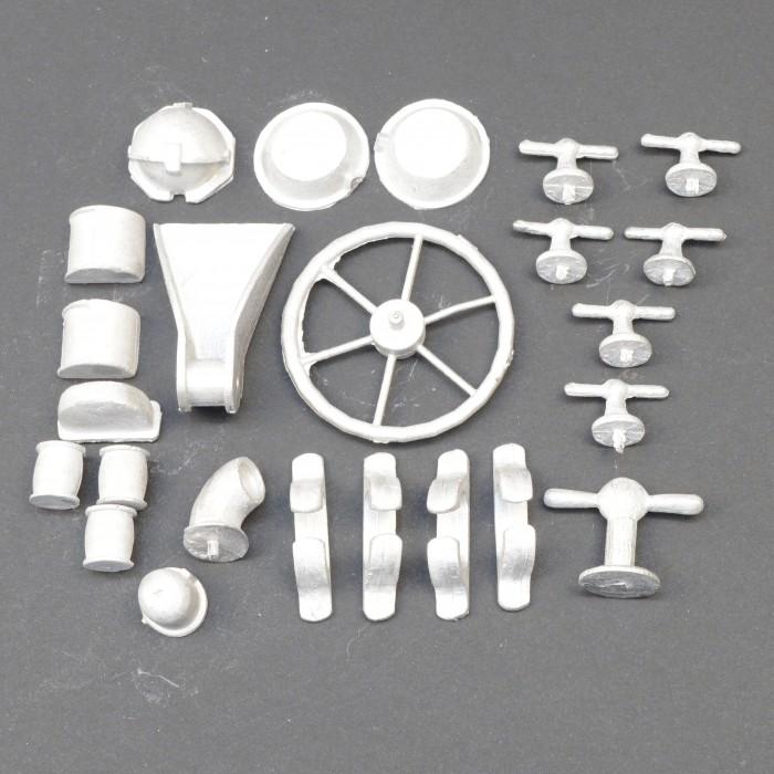 Fairey Huntress 34 White Metal Fittings Kit