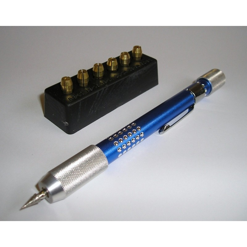 PV-05 Pin Vice with 6 attachments & diamond burr