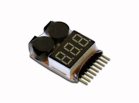 Low Voltage Buzzer Alarm & Voltage Tester 1-8S