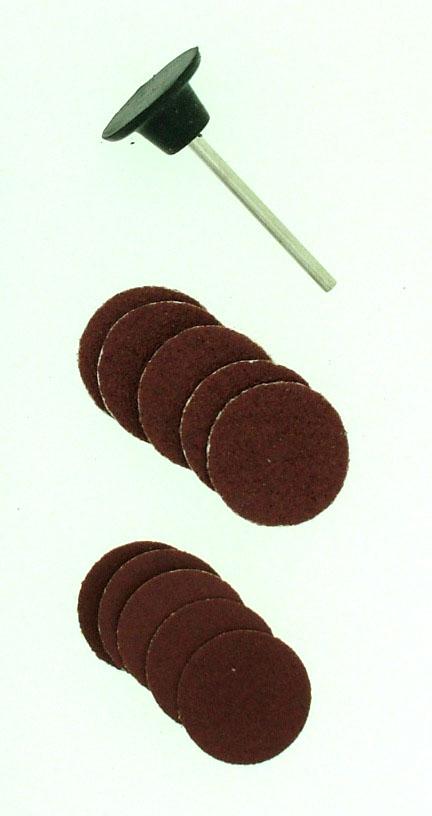 Rubber Pad & 10 Sanding Discs