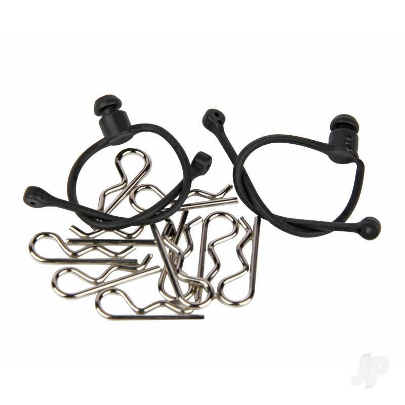 Body Clips (10pcs) with Black Retainers (2pcs)