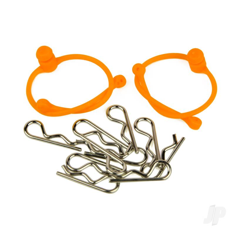 Body Clips (10pcs) with Orange Retainers (2pcs)