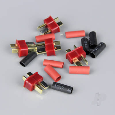 Deans Male including Heat Shrink (ESC End) (5pcs)