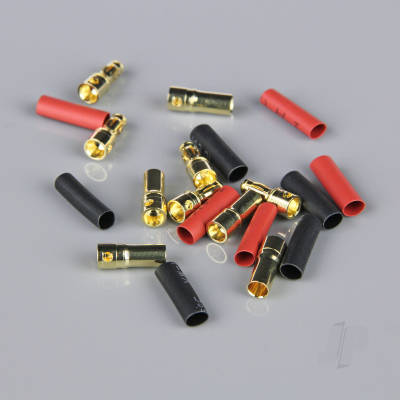 3.5mm Gold Connector Pairs including Heat Shrink (5pcs)