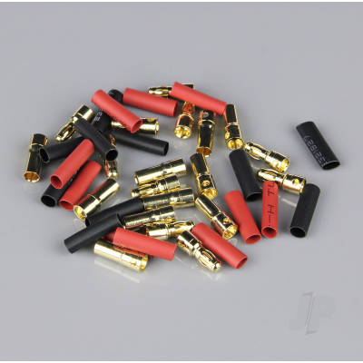 3.5mm Gold Connector Pairs including Heat Shrink (10pcs)