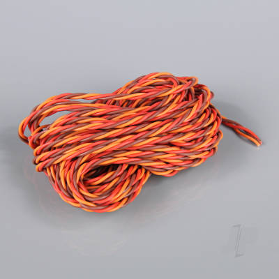 JR HD Twisted Servo Cable (without Connector) 10m