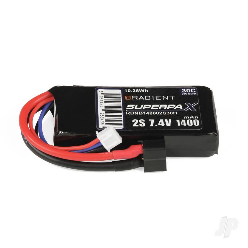 LiPo 2S 1400mAh 7.4V 30C Deans (HCT)