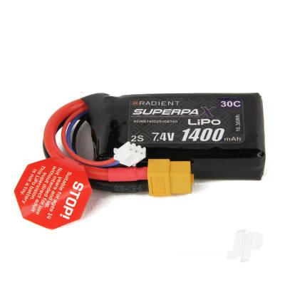 LiPo 2S 1400mAh 7.4V 30C XT60