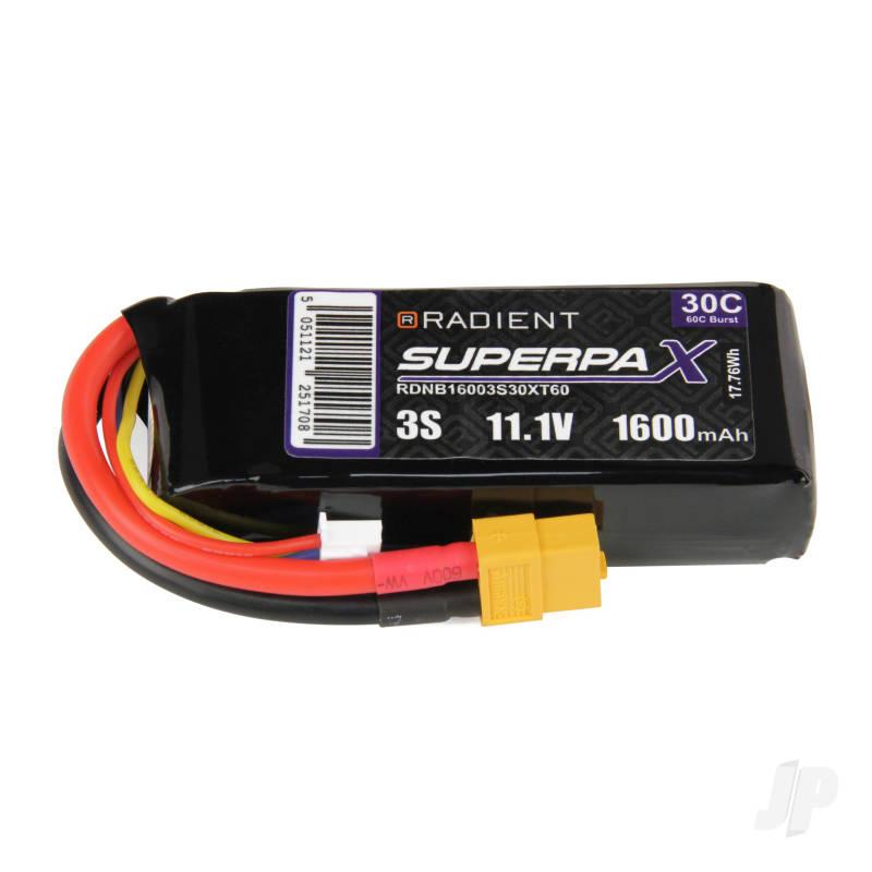 LiPo 3S 1600mAh 11.1V 30C XT60