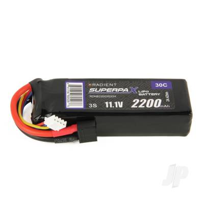 LiPo 3S 2200mAh 11.1V 30C Deans (HCT)