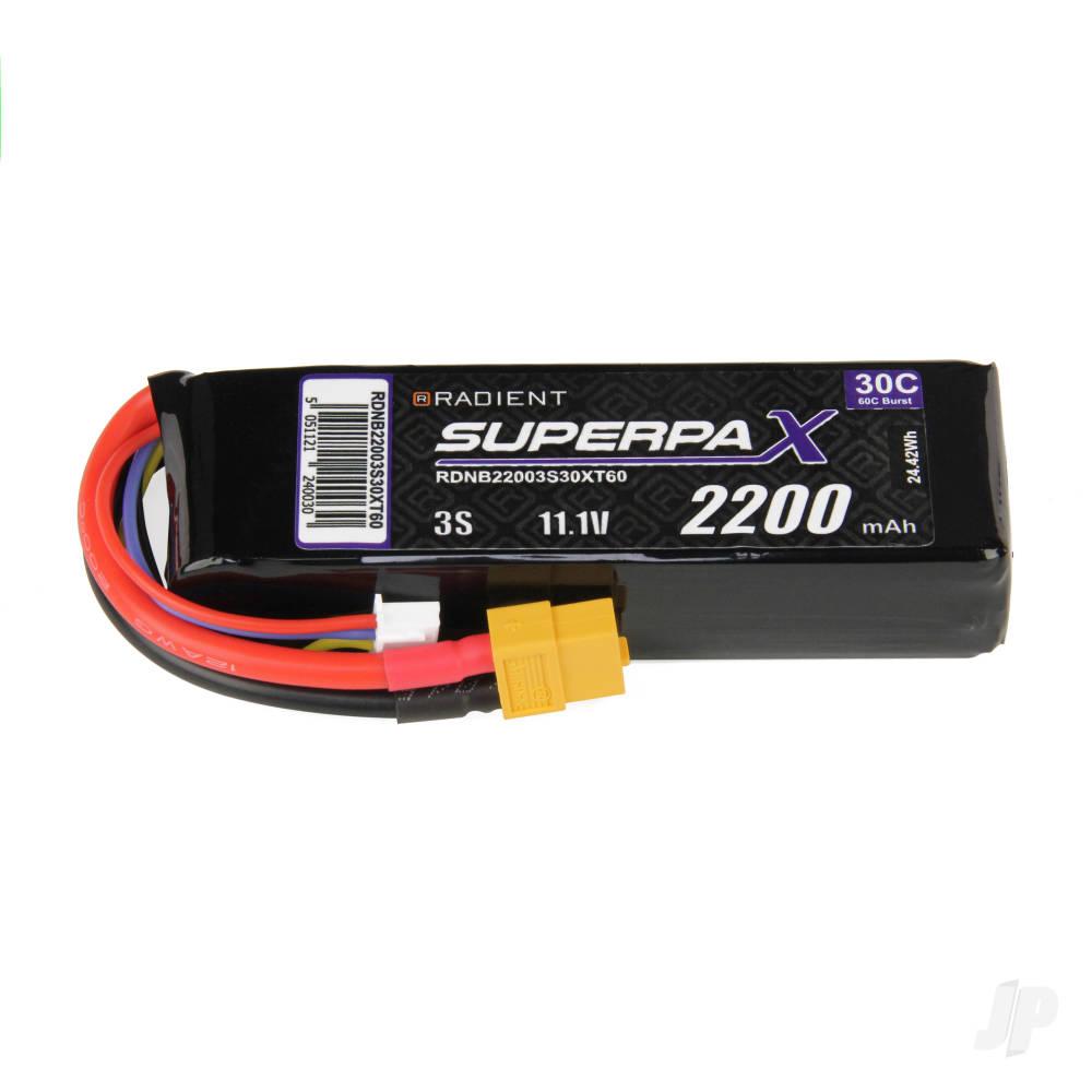 LiPo 3S 2200mAh 11.1V 30C XT60