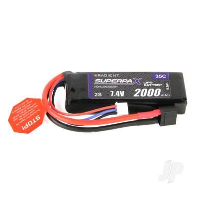 LiPo 2S 2000mAh 7.4V 35C Deans (HCT)