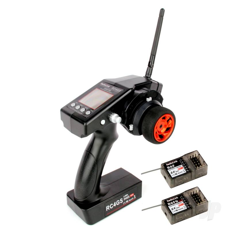 RC4GS 2.4GHz 4-Channel Tx with 1x R6FG (Gyro Rx) and 1x R6F (Standard Rx)