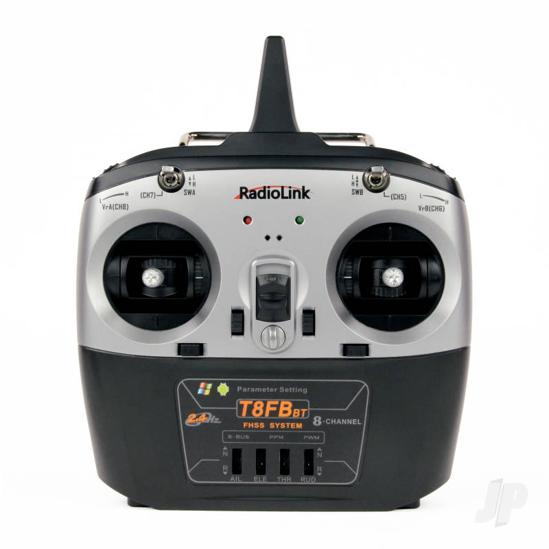 T8FB-BT 2.4GHz 8-Channel Transmitter with Bluetooth and 2x R8EF Receivers (Mode 2)