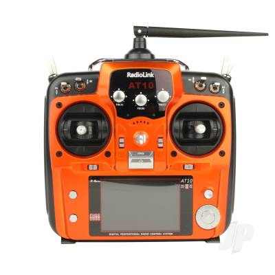 AT10 2.4GHz 12-Channel Transmitter with Receiver (Orange)