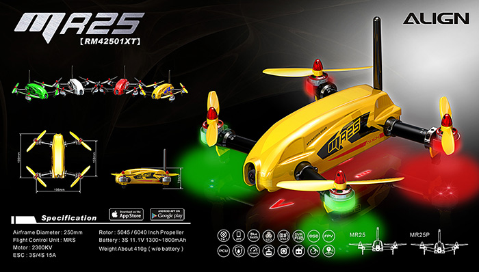 MR25 Racing Quad Combo - Flouresent Green with Free Battery
