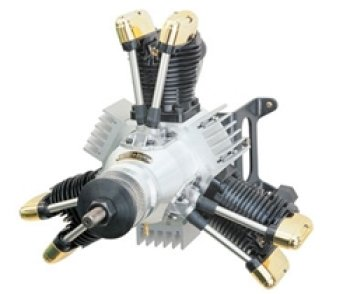 Saito FA-450R3-D Radial/Multi Cylinder Glow Engine