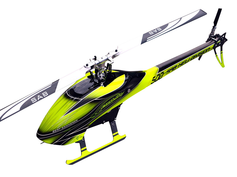 Sab Goblin 500 Flybarless Helicopter (Yellow/Black)