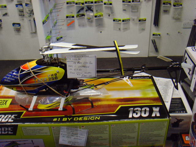 photo of: S/H T REX 250 PRO DFC UNFLOWN.