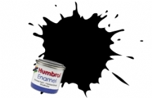 Humbrol No.1 Tinlets Coal Black (85) - 14ml Satin Enamel Tinlet