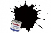 Humbrol No.1 Tinlets Black (201) - 14ml Metallic Enamel Tinlet