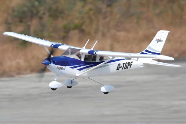 Top Gun Park Flite Cessna 182 Blue RTF Trainer