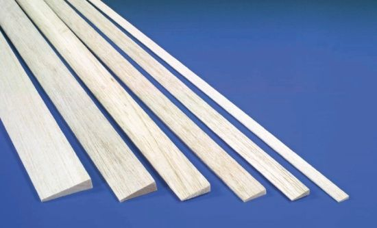 5.0mm x 12.0mm x 915mm Balsa Trailing Edge