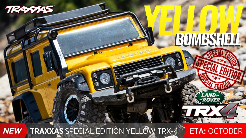 Traxxas TRX-4 Crawler Land Rover Defender 110 (TQi/No Batt/No Chg) LTD Yellow