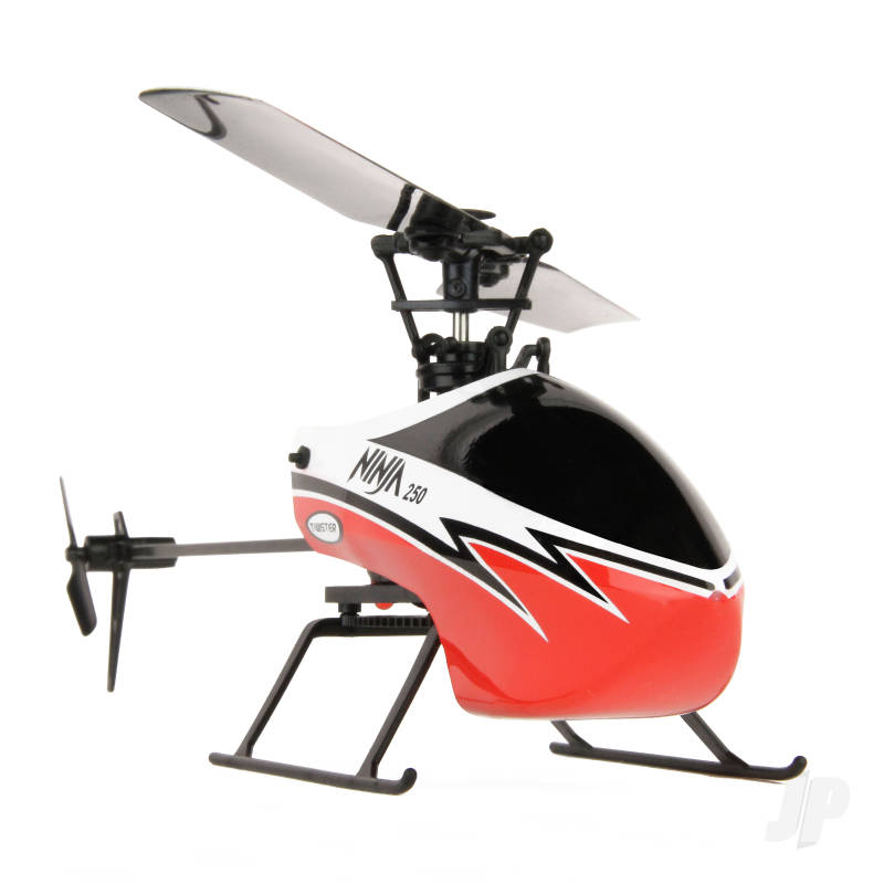 Ninja 250 Helicopter with Co-Pilot Assist, 6-Axis Stabilisation and Altitude Hold (Red)