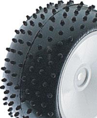 Mini Spike Rear Tyres - Green - 2.2 (pr)