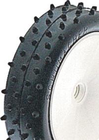 Mini Spike Slim Tyres - Green - 2.2 (pr)