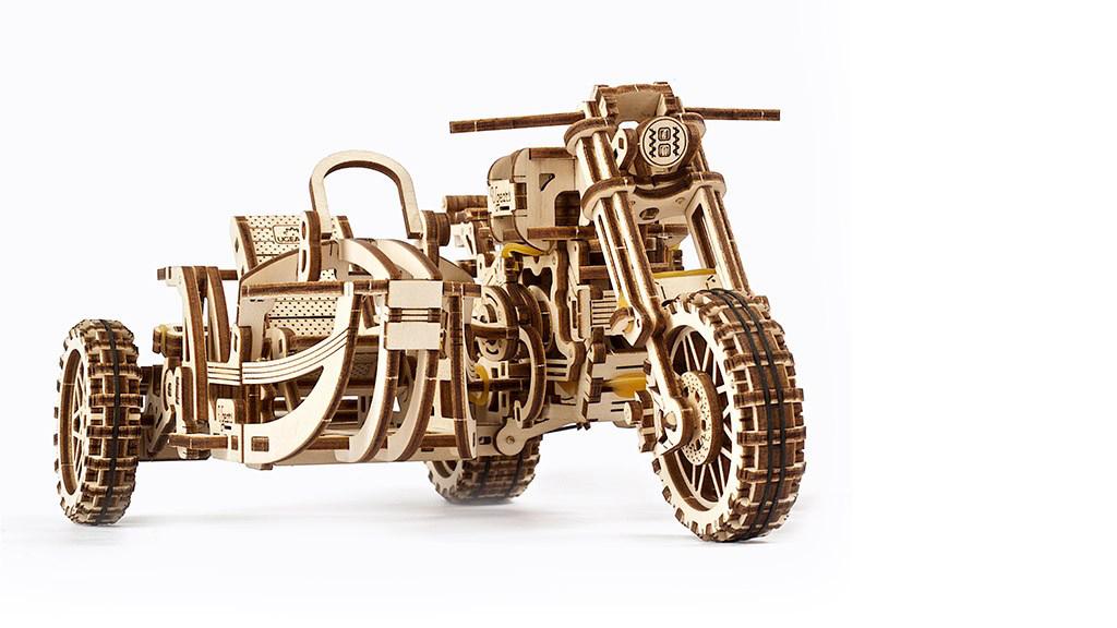 MODEL Scrambler UGR-10 Motor Bike with sidecar