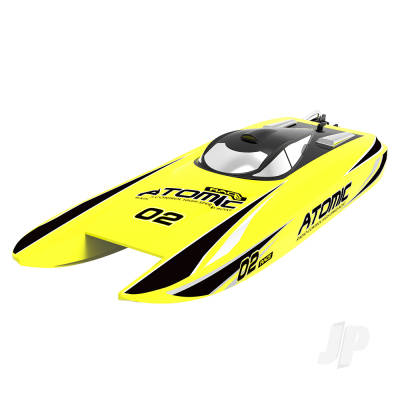 Atomic Cat 70 Brushless ARTR Racing Boat (Yellow) (No Battery or Charger)