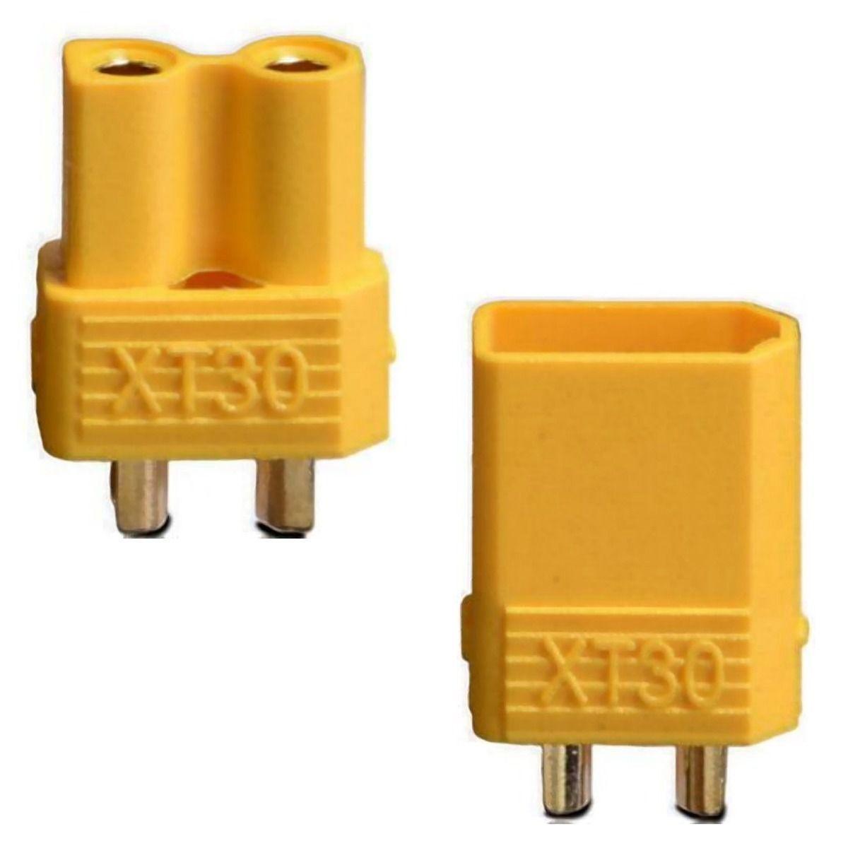 XT30 Connector Set with HeatSrink (2prs)