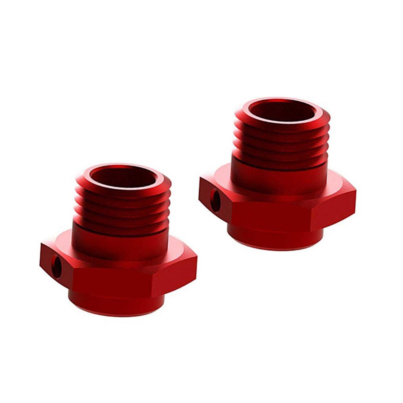 Wheel Hex Alumn 17mm/16.5mm Red (2)