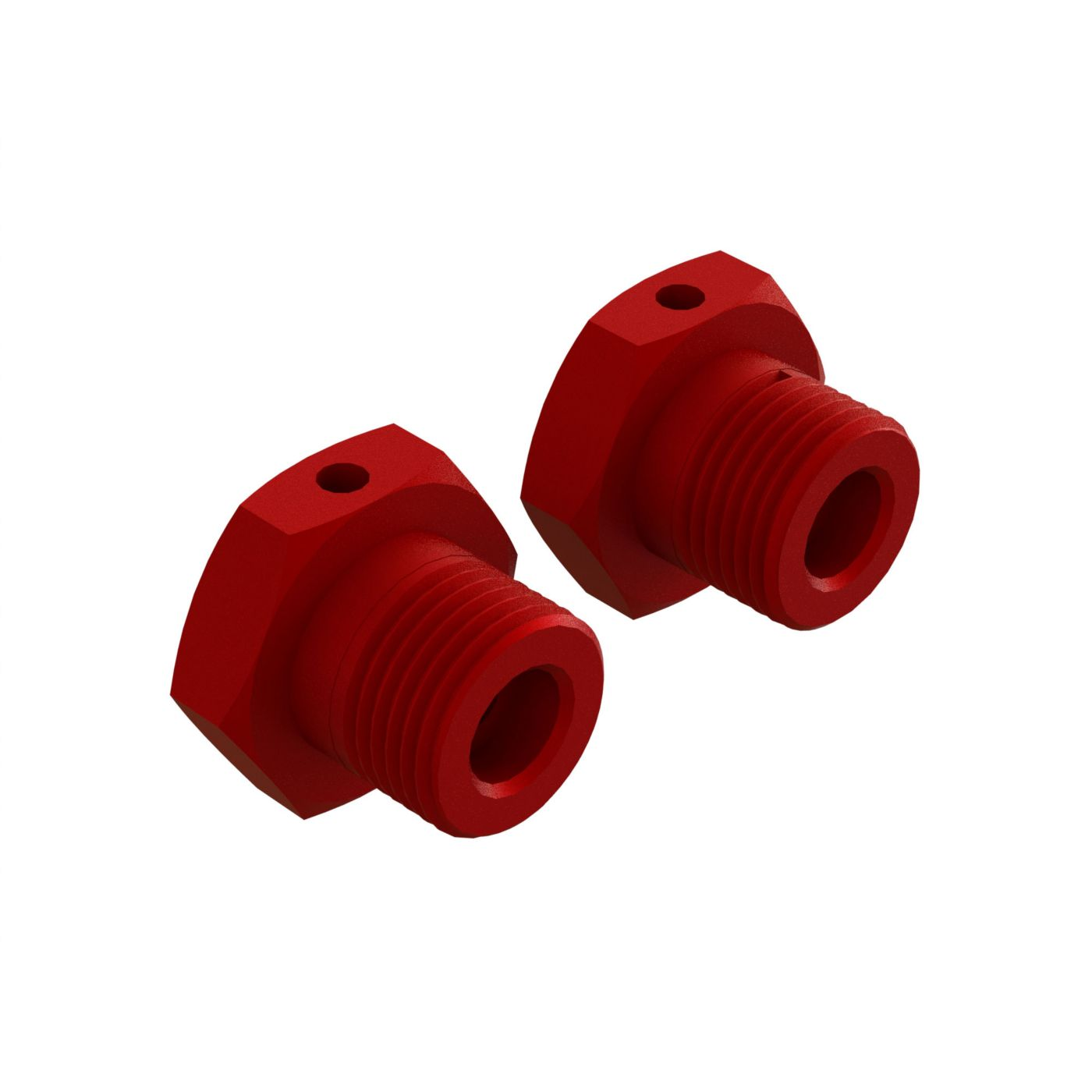 Aluminum Wheel Hex 17mm Red (2)