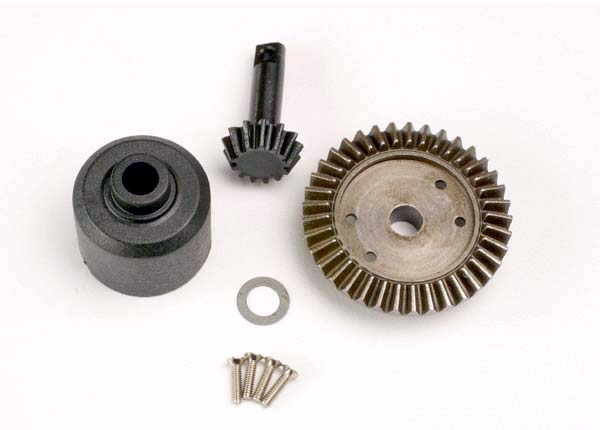 Ring gear, 37-T/ 13-T pinion/ diff carrier/6x10x0.5mm Teflon