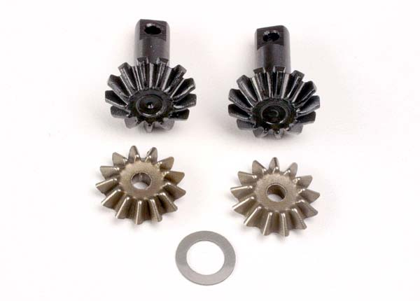 Diff gear set: 13-T output gear shafts (2)/ 13-T spider gear