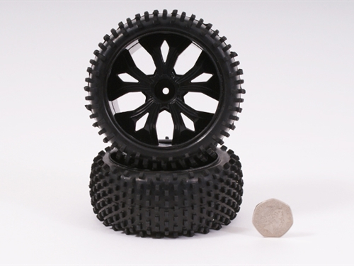 WHEEL AND TYRE BLACK FRONT (PAIR)