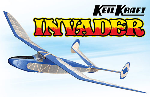 Keil Kraft Invader Kit - 24.5in Free-Flight Towline Glider