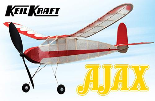 Keil Kraft Ajax Kit - 30in Free-Flight Rubber Duration