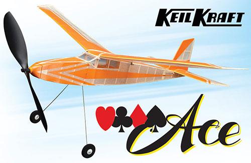 Keil Kraft Ace Kit - 30in Free-Flight Rubber Duration