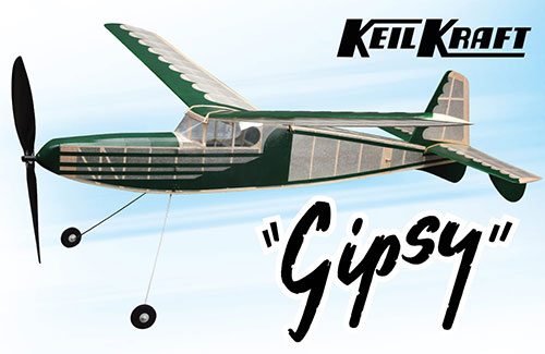 Keil Kraft Gipsy Kit - 40in Free-Flight Rubber Duration