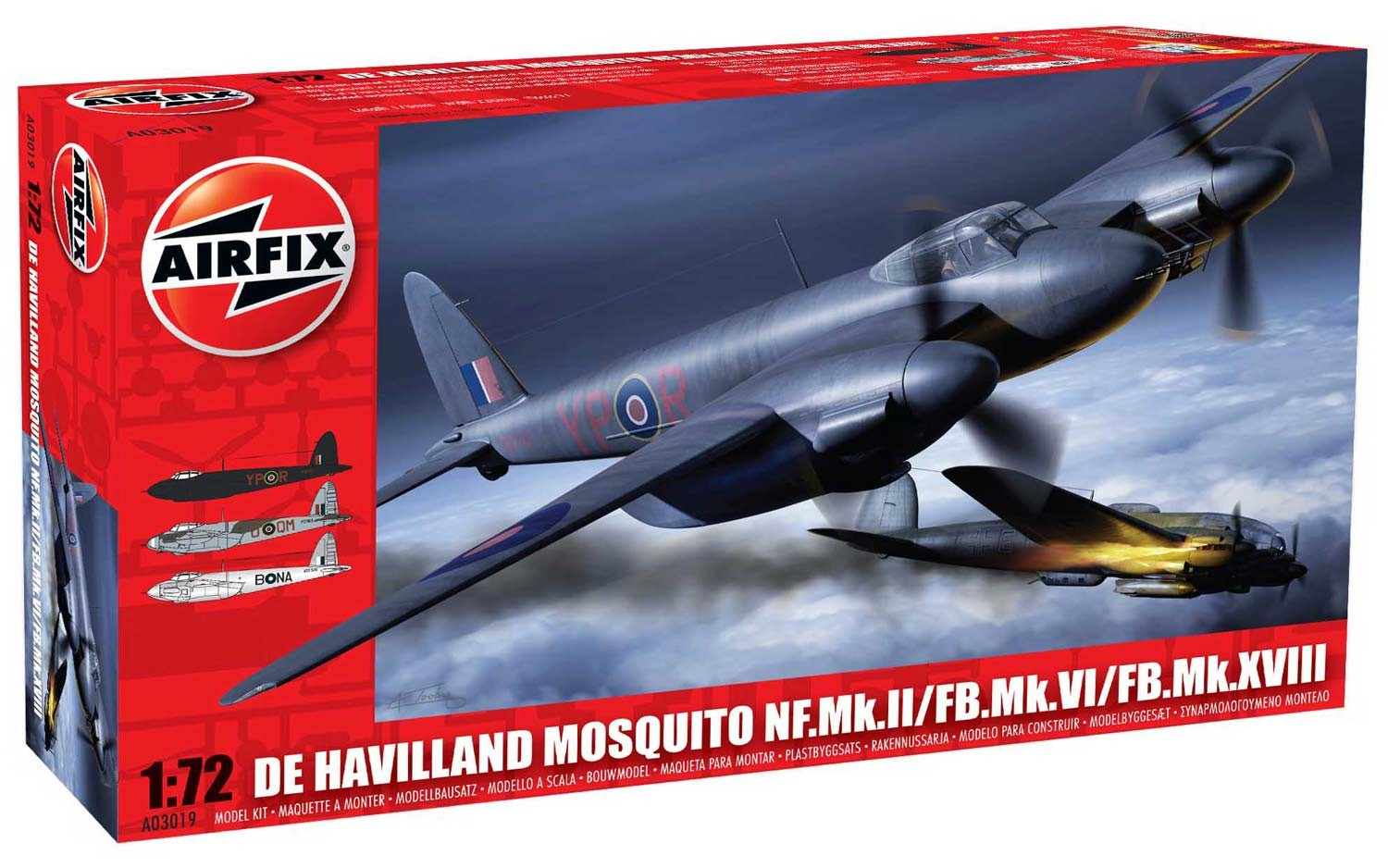 Airfix De Havilland Mosquito MkII VI XVIII 1:72nd Scale