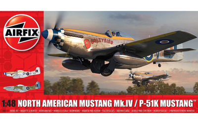 Airfix North American Mustang Mk.IV / P-51K 1:48 Scale