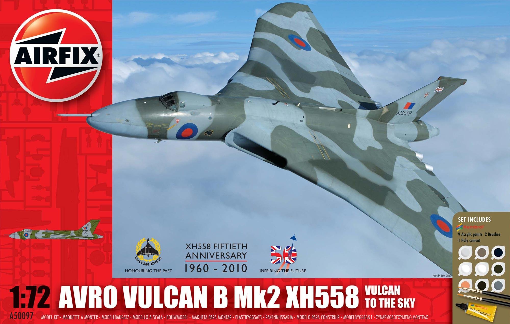 Airfix Avro Vulcan B Mk2 XH558: Vulcan To The Sky Gift Set 1/72